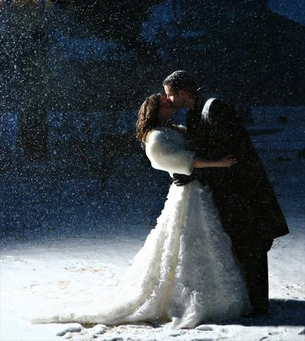 toledo winter wedding photo