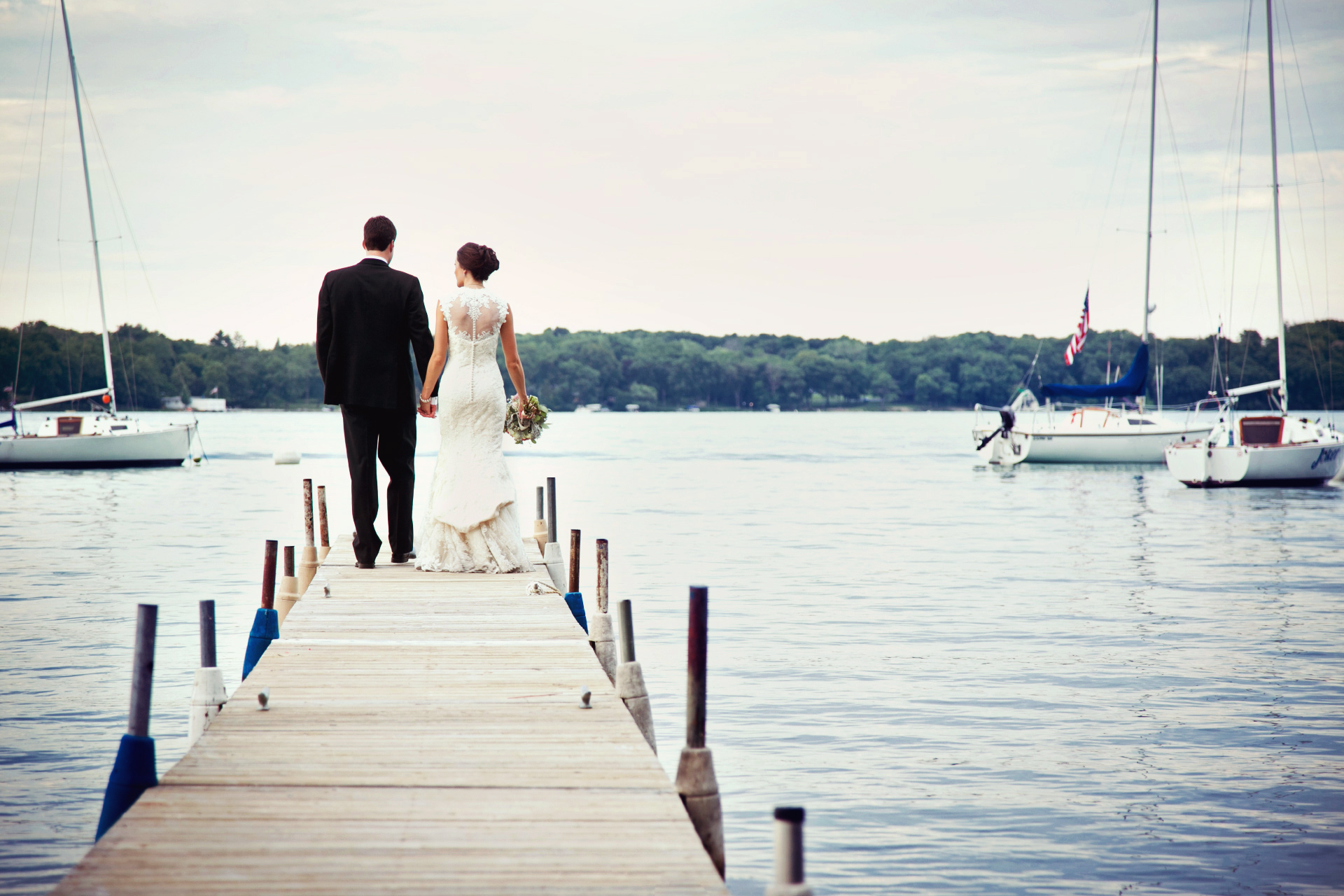 toledo wedding on a dock